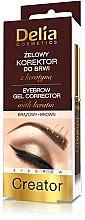 Parfumuri și produse cosmetice Gel corector pentru sprâncene 4în1 - Delia Cosmetics Eyebrow Gel