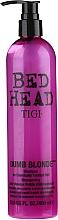 Șampon pentru păr decolorat și deteriorat - Tigi Bed Head Dumb Blonde Shampoo — Imagine N1