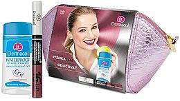 Parfumuri și produse cosmetice Set - Dermacol (lip/colour/4,8 g + remover/120ml + bag)