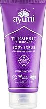"Parfumuri și produse cosmetice Scrub pentru corp ""Curcuma și Bergamotă"" - Ayumi Turmeric & Bergamot Body Scrub"