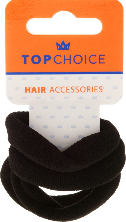 Elastice de păr 4 buc., negre - Top Choice