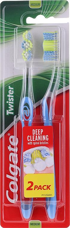 Periuță de dinți, medie, albastră - Colgate Twister Medium — Imagine N1