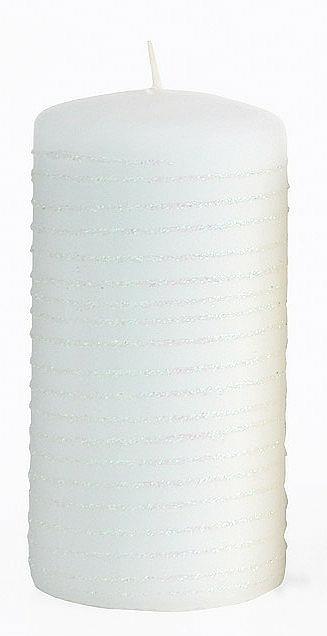 Lumânare decorativă, albă, 7x18 cm - Artman Andalo — Imagine N1