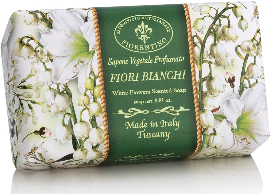 """Săpun natural """"Flori albe"""" - Saponificio Artigianale Fiorentino White Flowers Scented Soap"""