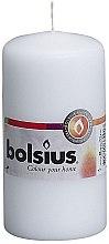 Parfumuri și produse cosmetice Lumânare cilindrică, alb, 120x60 mm - Bolsius Candle