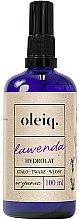 Parfumuri și produse cosmetice Hidrolat de Lavandă pentru față, corp și păr - Oleiq Hydrolat Lavender