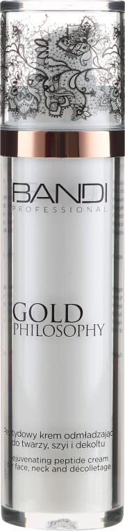 Cremă peptidică anti-îmbătrânire pentru față, gât și decolteu - Bandi Professional Gold Philosophy Rejuvenating Peptide Cream — Imagine N2