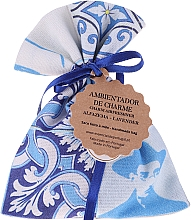 Parfumuri și produse cosmetice Pliculeț parfumat, alb-albastru, lavandă - Essencias De Portugal Tradition Charm Air Freshener