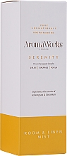 "Parfumuri și produse cosmetice Odorizant de aer ""Serenity"" - AromaWorks Serenity Room Mist"