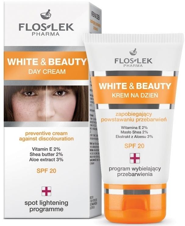 Cremă de zi profilactică pentru petele pigmentare SPF 20 - Floslek White & Beauty Preventive Day Cream Against Discolouration SPF 20 — Imagine N1