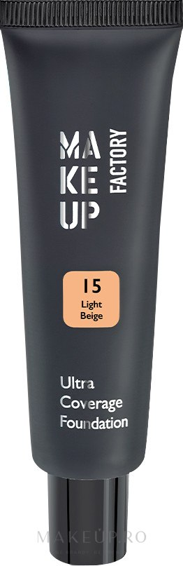 Fond de ten - Make up Factory Ultra Coverage Foundation — Imagine 15 - Light Beige