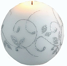 Parfumuri și produse cosmetice Lumânare decorativă, bilă, alb, 10 cm - Artman Amelia