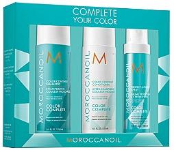 Parfumuri și produse cosmetice Set - Moroccanoil Color Complete (shmp/250ml + h/cond/250ml + h/spr/160ml)