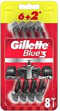 Parfumuri și produse cosmetice Set aparate de ras de unică folosință, 6+2 bucăți - Gillette Blue3 Nitro