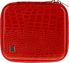 Parfumuri și produse cosmetice Husă pentru instrumente de manichiură, CS-08, roșie - Staleks Case For Manicure Tools
