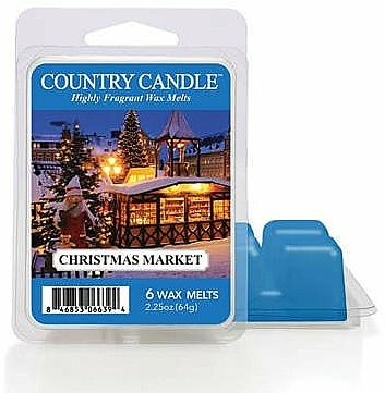 Ceară pentru lampă aromatică - Country Candle Christmas Market Wax Melts — Imagine N1