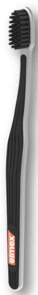 Periuță de dinți, moale, neagră - Elmex Swiss Made Ultra Soft Toothbrush — Imagine N1