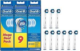 Parfumuri și produse cosmetice Capete pentru periuță electrică de dinți , 9 bucăți - Oral-B Precision Clean