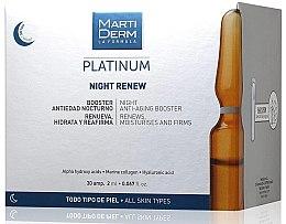 Parfumuri și produse cosmetice Fiole anti-îmbătrânire de noapte pentru față - MartiDerm Platinum Night Renew Ampollas