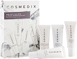 Parfumuri și produse cosmetice Set - Cosmedix Age Defying Skin 4-Piece Essentials Kit (f/cleanser/15ml + f/ser/15ml + f/ser/15ml + f/cr/15ml)