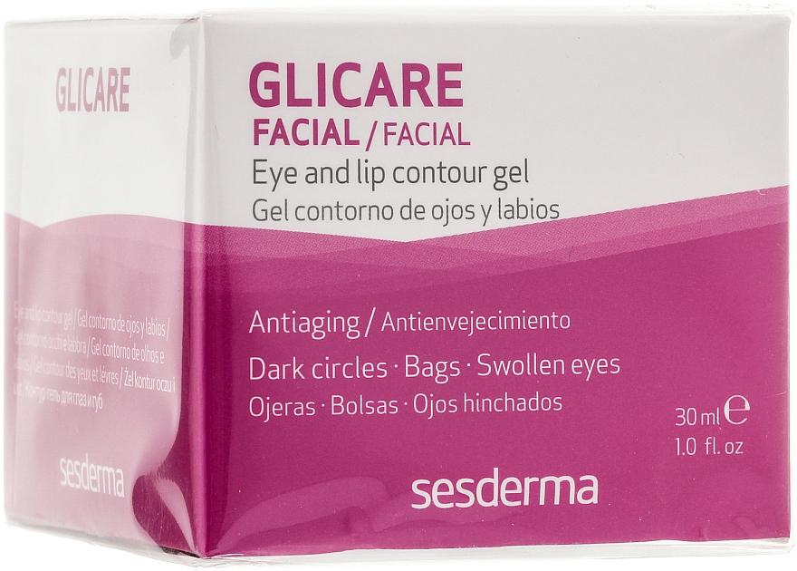 Gel pentru conturul ochilor și buzelor - SesDerma Laboratories Glycare Eye and Lip Contour Gel — Imagine N1