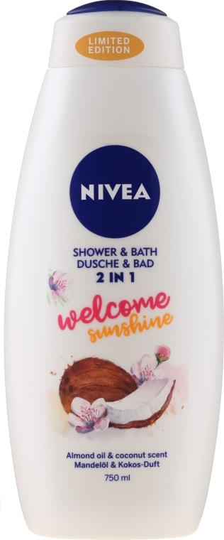 "Gel-Spumă pentru baie ""Cocos și migdale"" - Nivea Welcome Sunshine Body Wash Limited Edition"