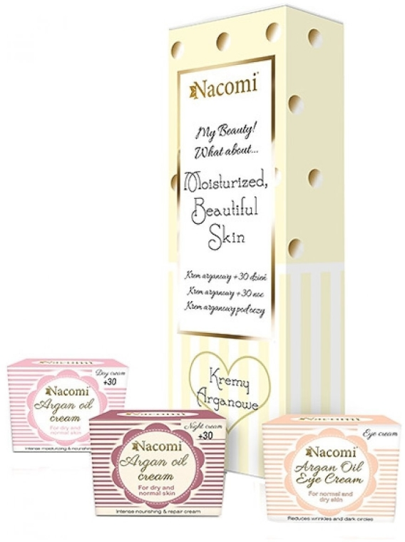 Set - Nacomi Argan Oil Moisturized Beautiful Skin (cr/2x50ml+cr/15ml) — Imagine N3