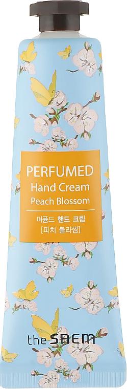 """Cremă parfumată de mâini """"Flori de piersic"""" - The Saem Perfumed Peach Blossom Hand Cream"""