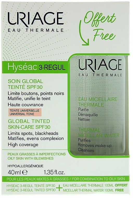 Set - Uriage Hyseac 3-Regul (cr/40ml + micel/wather/100ml) — Imagine N1