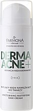 Parfumuri și produse cosmetice Cremă matifiantă cu acizi AHA - Farmona Dermaacne+ Moisturising Mattifying Face Cream