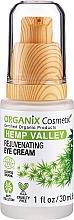 Parfumuri și produse cosmetice Cremă cu efect de întinerire pentru zona ochilor - Organix Cosmetix Hemp Valley Rejuvenating Eye Cream