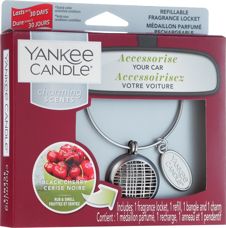 Odorizant pentru maşină - Yankee Candle Charming Scents Black Cherry Linear — Imagine N1