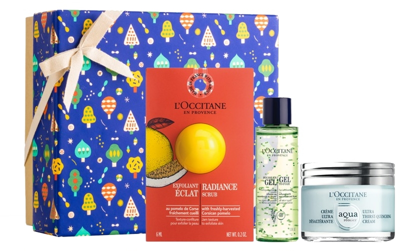 Set - L'Occitane Aqua Reotier (f/scrub/6ml + f/cr/50ml + f/gel/30ml) — Imagine N1