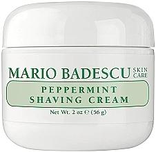 Cremă de ras, cu extract de mentă - Mario Badescu Peppermint Shaving Cream — Imagine N1