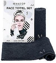 """Parfumuri și produse cosmetice Set de prosoape de față, pentru călătorii, negre """"MakeTravel"""" - Makeup Face Towel Set"""