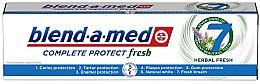 """Parfumuri și produse cosmetice Pastă de dinți """"Complex cu ierburi"""" - Blend-a-Med Complete Protect Fresh 7 Herbal Fresh Toothpaste"""