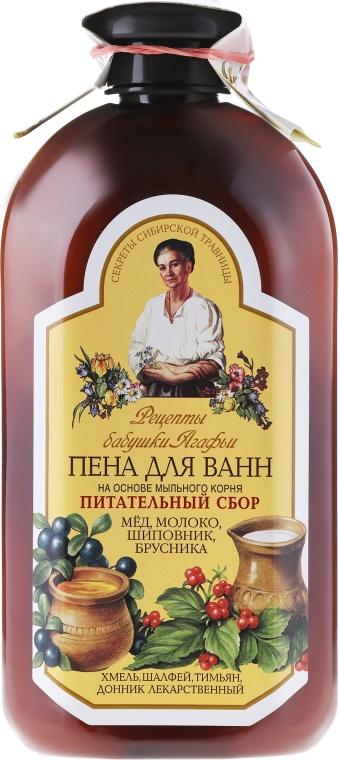 """Spumant de baie cu extract de săpunăriță """"Complex nutrițional"""" - Reţete bunicii Agafia — Imagine N1"""