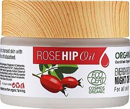 Parfumuri și produse cosmetice Cremă nutritivă de noapte pentru față - Organix Cosmetix Rose Hip Oil Energy-boosting Night Cream