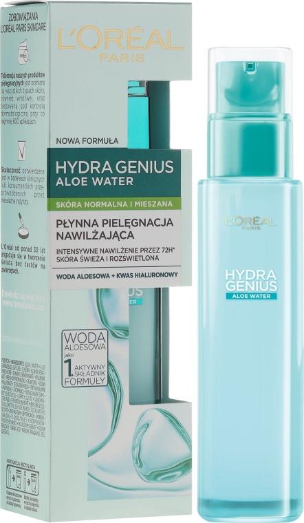 Fluid pentru piele mixtă și normală - L'Oreal Paris Hydra Genius Aloe Water