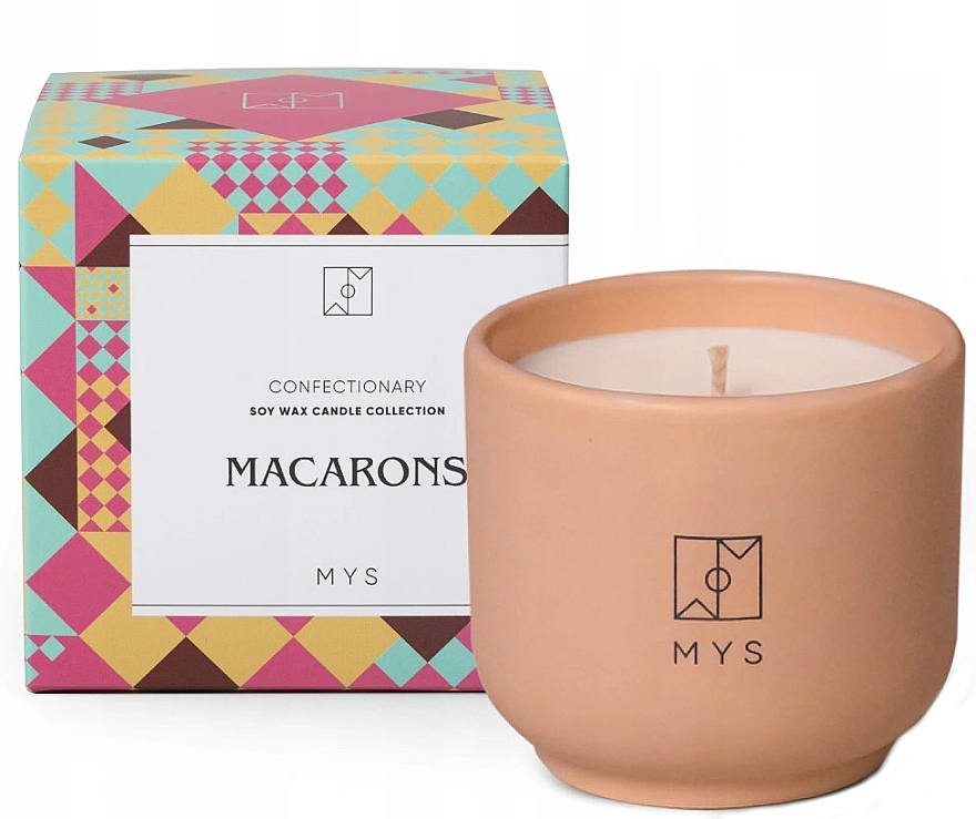 "Lumânare din soia ""Biscuiți cu migdale"" - Mys Macarons Candle — Imagine N1"