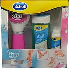 Parfumuri și produse cosmetice Set - Scholl Velvet Smooth Diamond Set (foot/bath/150ml+foot/serum/30ml+roller/1pcs)