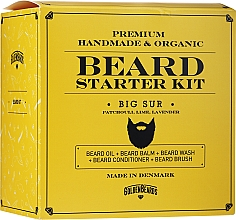 Parfumuri și produse cosmetice Set - Golden Beards Starter Beard Kit Big Sur (balm/60ml + oil/30ml + shm/100ml + cond/100ml + brush)
