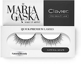 Parfumuri și produse cosmetice Gene false - Clavier Quick Premium Lashes Natural Beauty 827