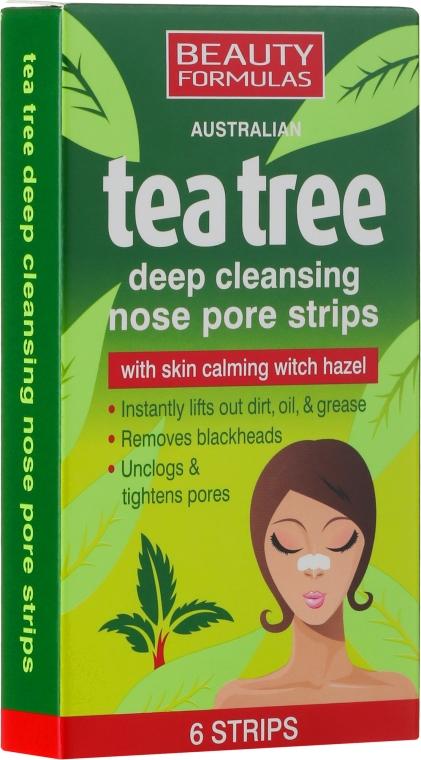 Frize demachiante pentru nas - Beauty Formulas Tea Tree Deep Cleansing Nose Pore Strips