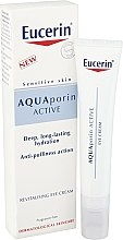 Parfumuri și produse cosmetice Cremă regeneratoare pentru zona ochilor - Eucerin AquaPorin Active Deep Long-lasting Hydration Revitalising Eye Cream