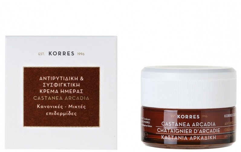 Cremă de zi împotriva ridurilor - Korres Castanea Arcadia Antiwrinkle&Firming Day Cream For Dry and Very Dry Skin — Imagine N1