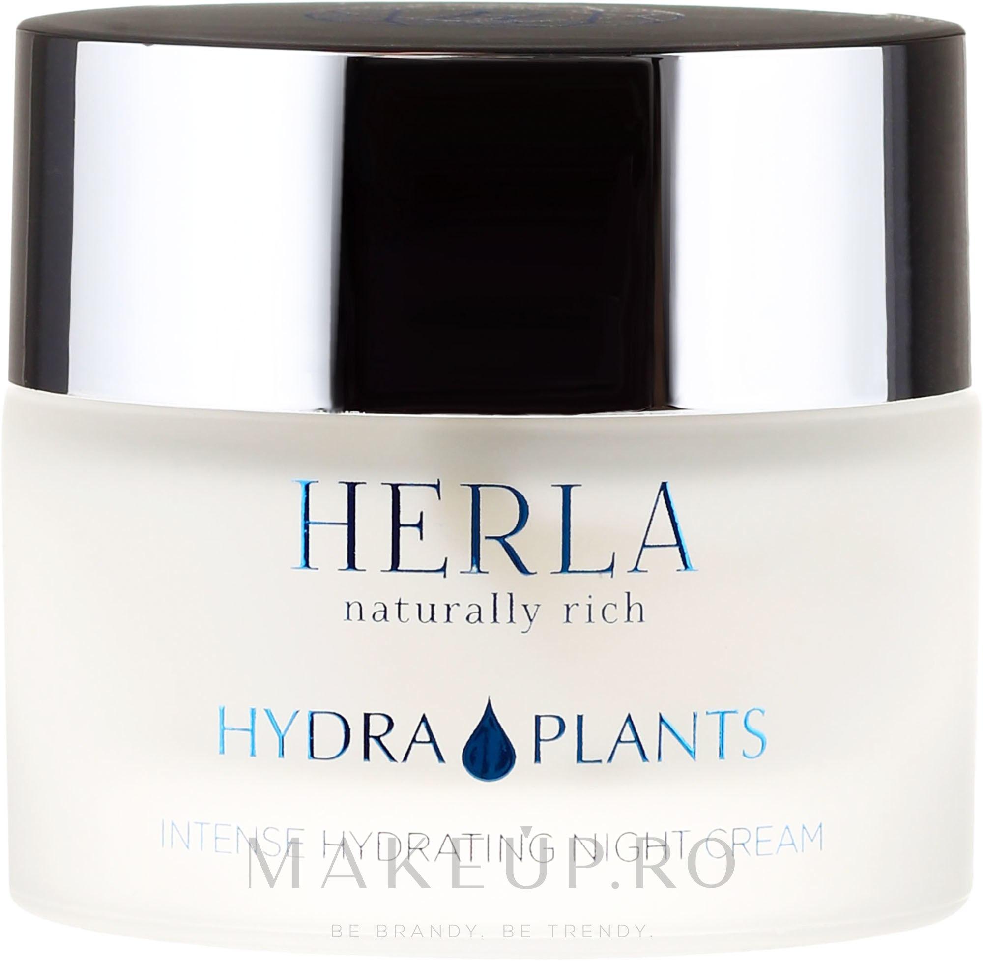 Cremă de față - Herla Hydra Plants Intense Hydrating Night Cream — Imagine 50 ml