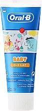 Parfumuri și produse cosmetice Pastă de dinți pentru copii - Oral-B Baby Winnie Pooh Toothpaste