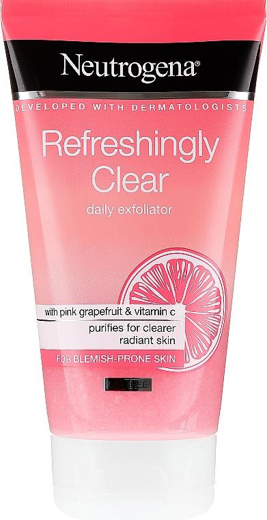 Scrub cu extract de grapefruit roz și vitamina C pentru față - Neutrogena Refreshingly Clear Daily Exfoliator