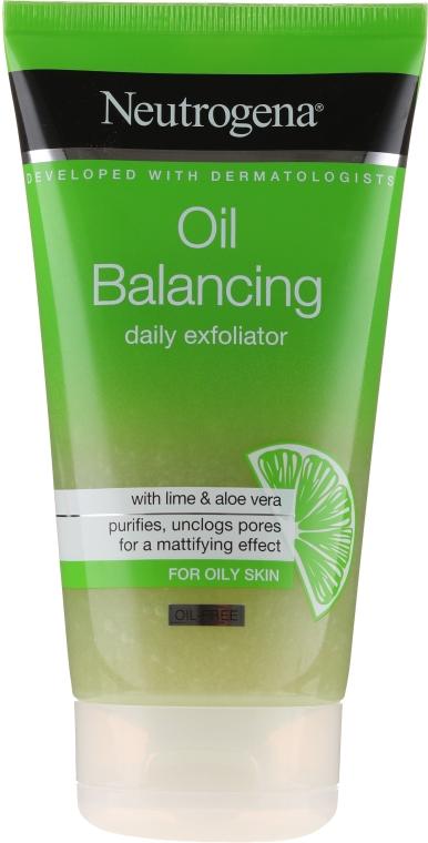 Peeling facial pentru utilizarea zilnică - Neutrogena Oil Balancing Daily Exfoliator — Imagine N1